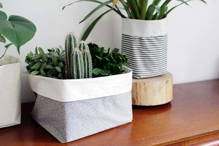 DIY Fabric Buckets by Fall for DIY for Design*Sponge