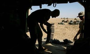 chem weapons used in iraq, birth defects Spc Travis Hunter loads armor-piercing depleted uranium-tipped shells during the second Iraq war