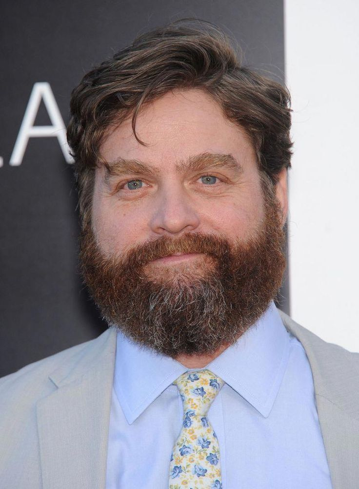 Zach Galifianakis – Round Face – Side Part Hairstyle #Shorthairstyles