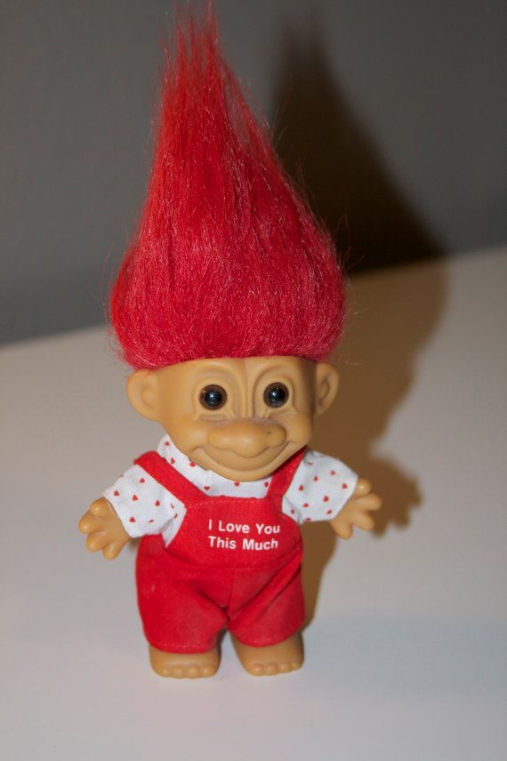 I Love you This Much Troll Doll by Russ on Etsy, $7.00