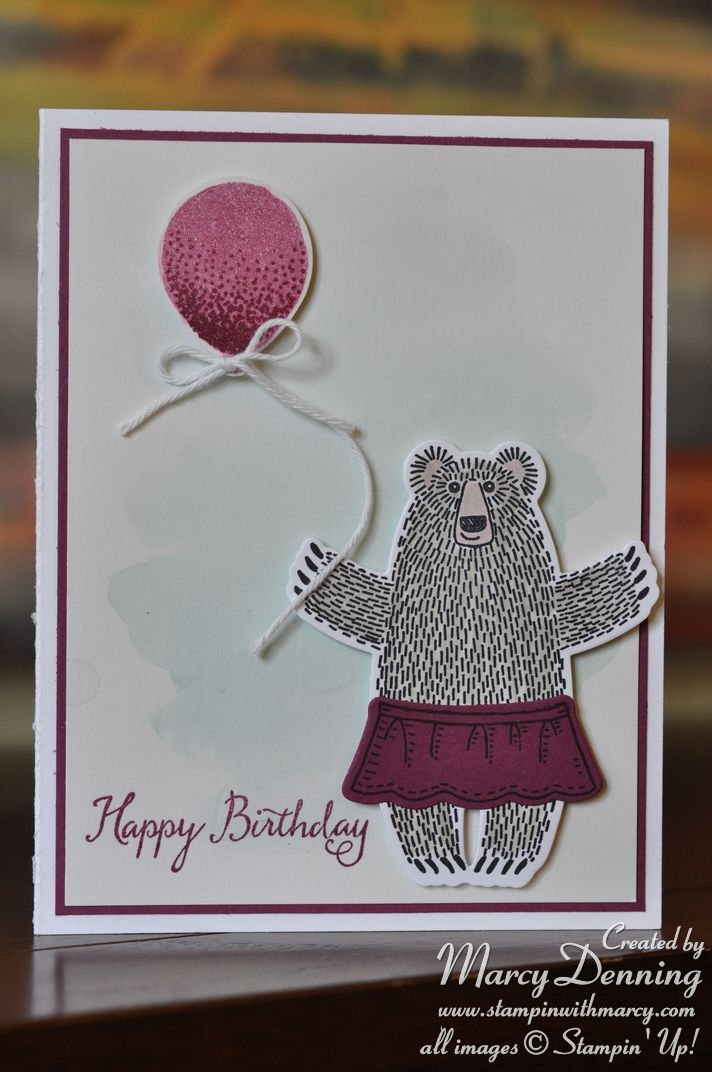 Bear Hugs, Balloon Celebration, Stampin' Up!