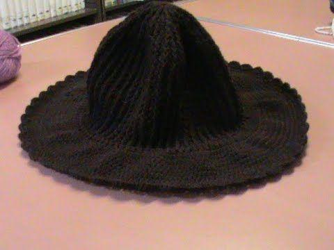 Sombrero con ala ancha (con gancho o crochet) Parte 1. - YouTube