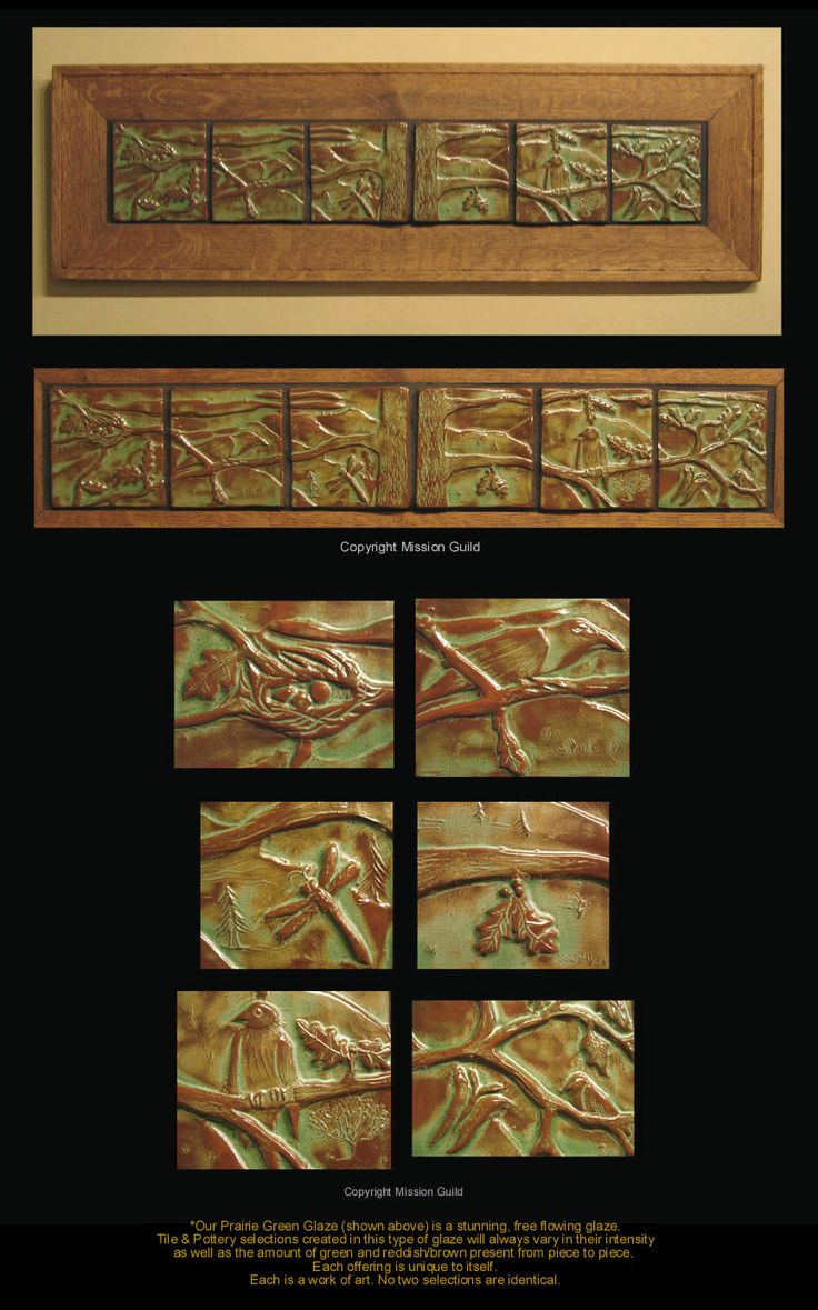 1000 ideas about craftsman tile murals on pinterest for Arts and crafts mural