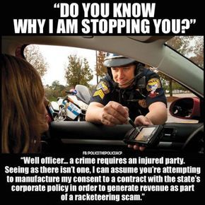 I bet the police hate pulling over an educated Libertarian… – Liberal Logic 101