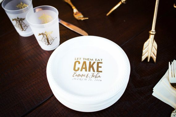 Personalized Plates Plastic Plates Cake Plates by SipHipHooray