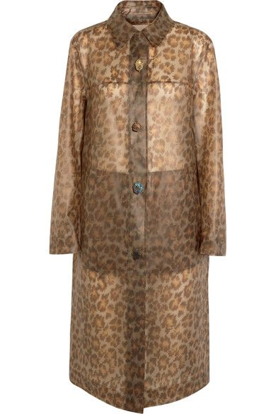 Christopher Kane - Leopard-print Rubberized Raincoat - Leopard print - IT38