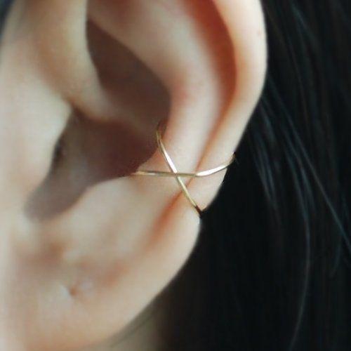 14 Kt Yellow Gold Filled Cross X Ear Cuff, 22gauge Criss Cross X oreille, boutons de manchette boucle d'oreille Cartilage, conque faux piercing, bijoux de Boho, veste de l'oreille, oreille Wrap, boucle d'oreille Cartilage / s'il vous plaît sélectionnez une option