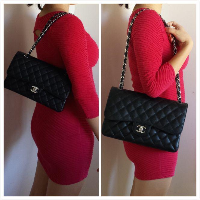 Chanel Classic Flap Bag Medium vs Jumbo | Easy&Simple