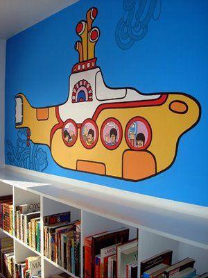 Yellow submarine, arte perfeita. #decoração #infantil #quarto