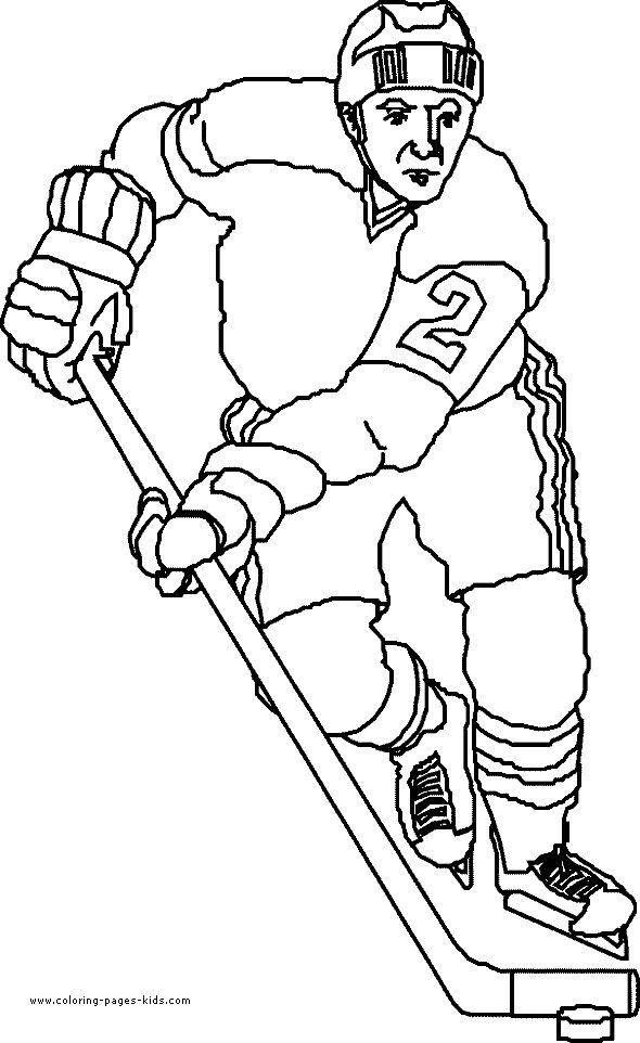 Free printable hockey coloring pages for kids