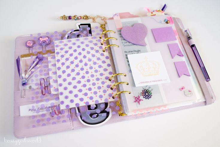 Inside My Perfect Planner - 2015 Kikki K Lilac Time Planner (2015 Planner Set Up) - Honeygirl's World