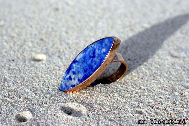 Lapis lazuli set in copper
