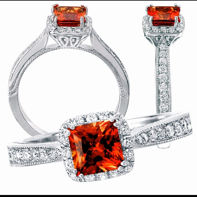 Orange Sapphire Ring Jewelry Rings Diamond Engagement Rings