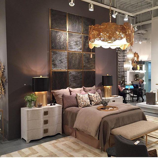 Repost from @tlannonglobalviews - Day Three Las Vegas market.  We believe in brass and bronze!! Look great mixed.  #studioahome #globalviews #homedecor #lighting #furniture #lvmkt