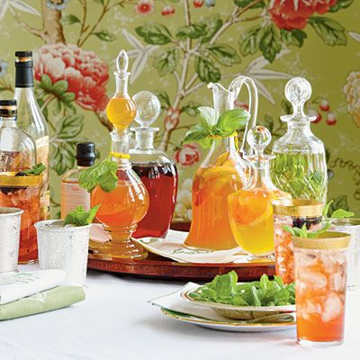 The Ultimate Julep Bar.  Julep bars are a great idea!  New twist to entertaining.