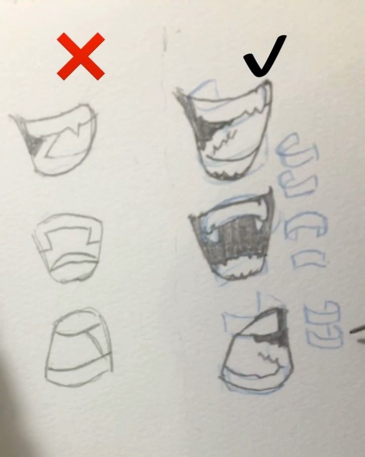 """119.6k Likes, 768 Comments - Gabriel Picolo (@_picolo) on Instagram: """"Did a quick tutorial on how to draw convincing teeth! ✨ Here are some tips: 1. Remember that…"""""""