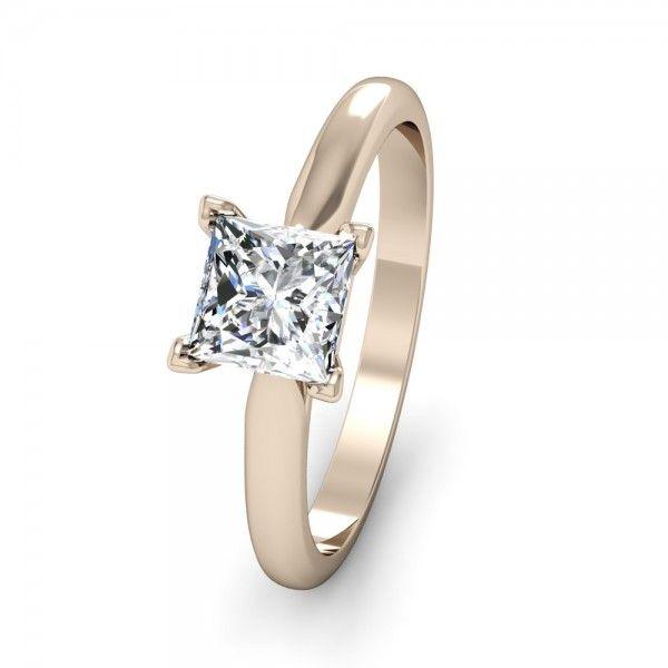 #Verlobungsringe mit einem #Princess Diamant #Love by #VERLOBUNGSRING.de