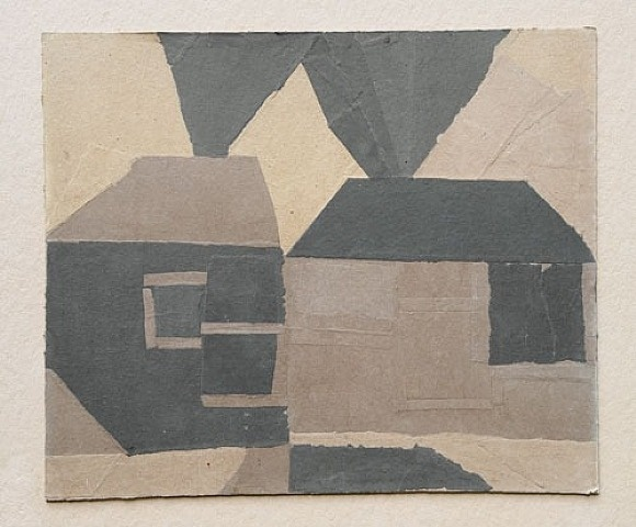TITLE: Mountain Cottages ARTIST: Francis Davison WORK DATE: circa 1952-1963 MATERIALS: Collage on Essex Board MARKINGS: Estate stamp A141. SIZE: h: 24.1 x w: 28.8 in / h: 61.2 x w: 73.2 cm SIZE: 24.18 x 28.86 inches REGION: British STYLE: Contemporary PRICE*: £6000 Price inclusive of frame, VAT & UK shipping