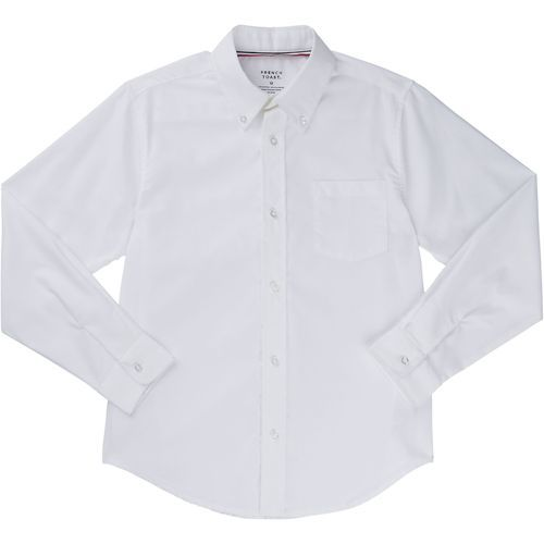 French Toast Boys' Long Sleeve Oxford Shirt (White, Size 8 Youth) - School Uniforms, Boy's Uniform Tops at Academy Sports