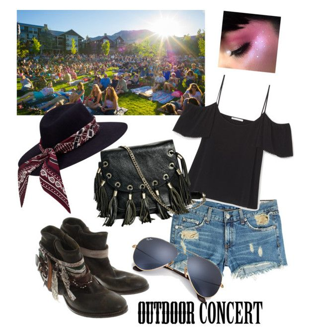 """Outdoor concert"" by tattooedmum ❤ liked on Polyvore featuring rag & bone, Ray-Ban, Russell & Bromley, GUESS by Marciano, 60secondstyle and outdoorconcerts"