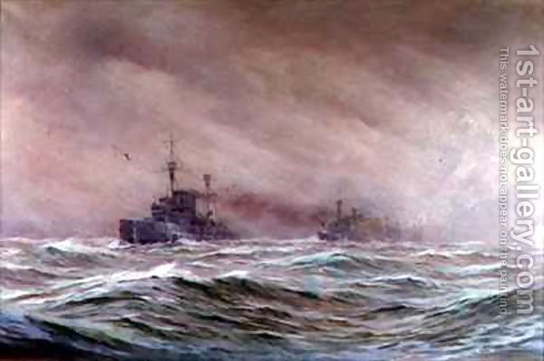 Second Cruiser Squadron North Sea 1914-16 by Alma Claude Burlton Cull