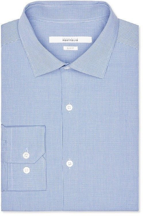 Slim Fit Micro Check Dress Shirts Sale Perry Ellis
