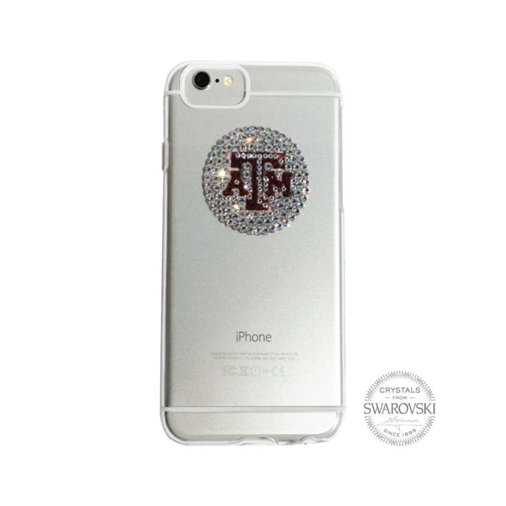 Texas A&M University Clear Phone Case, Swarovski Medallion - iPhone 6/6S