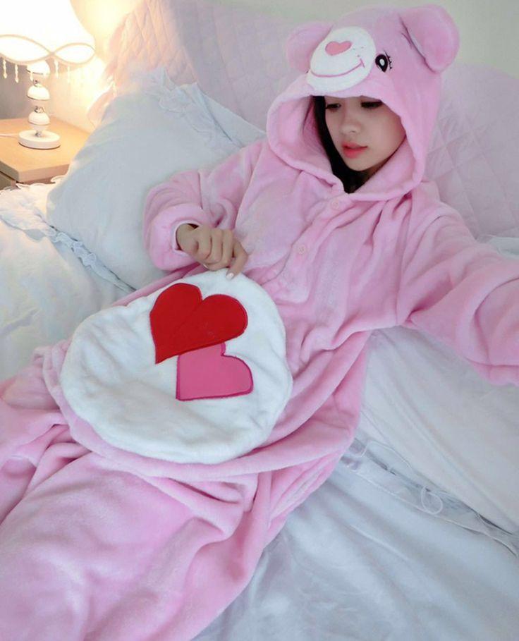 Aliexpress.com : Buy Unisex Care Bear Onesie Pajamas Costume Hoodies Pajama…