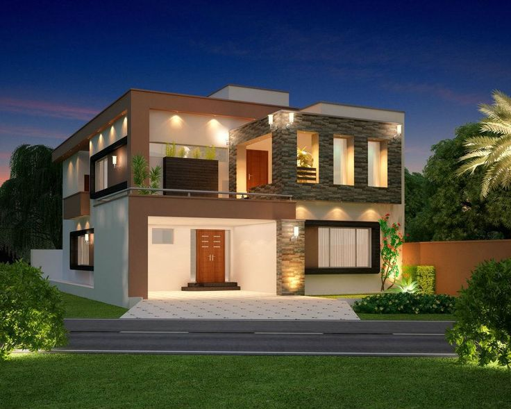 10 Marla Modern Home Design 3D Front Elevation, Lahore, Pakistan Design  Dimentia | Eden | Pinterest | House, Front Elevation Designs And Modern  House Design