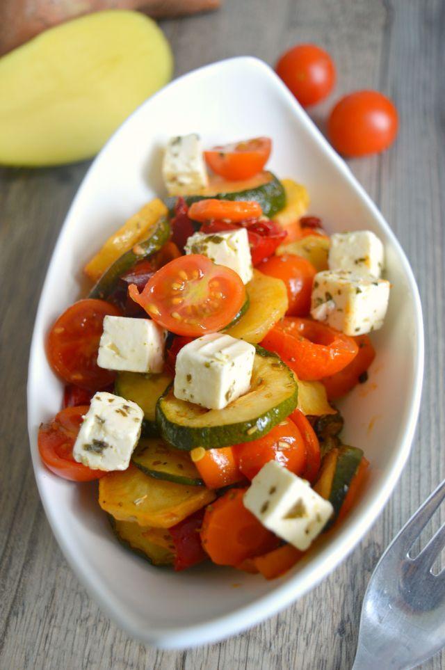 Mediterraner Oferngemüse Salat