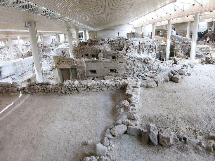 Acrotiri excavations, in Santorini