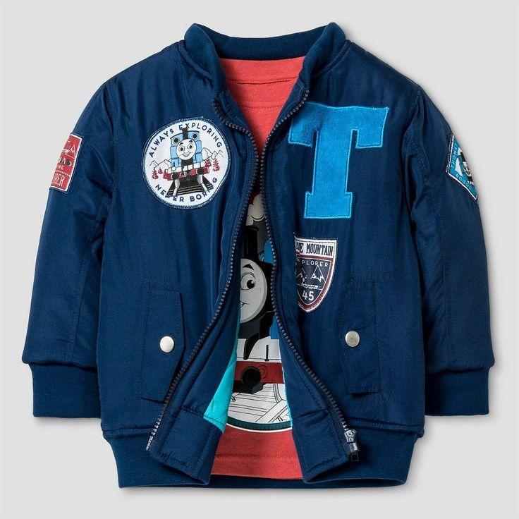 Hit Toddler Boys' Bomber Jacket and Long Sleeve Tee Set - Navy (Blue) 4T, Toddler Boy's