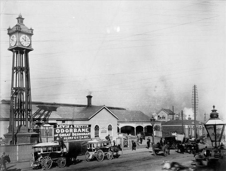 Flinders Street Station, Elizabeth Street entrance. 1889