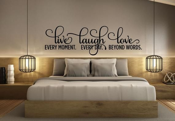 Bedroom Decor Bedroom Wall Decal Live Laugh Love Decal Etsy Wall Decals For Bedroom Bedroom Decor Vinyl Wall
