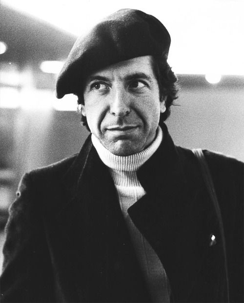 Leonard Cohen in Paris by Claude Gassian, 1976. Looks like he just heard that I was born. Love.