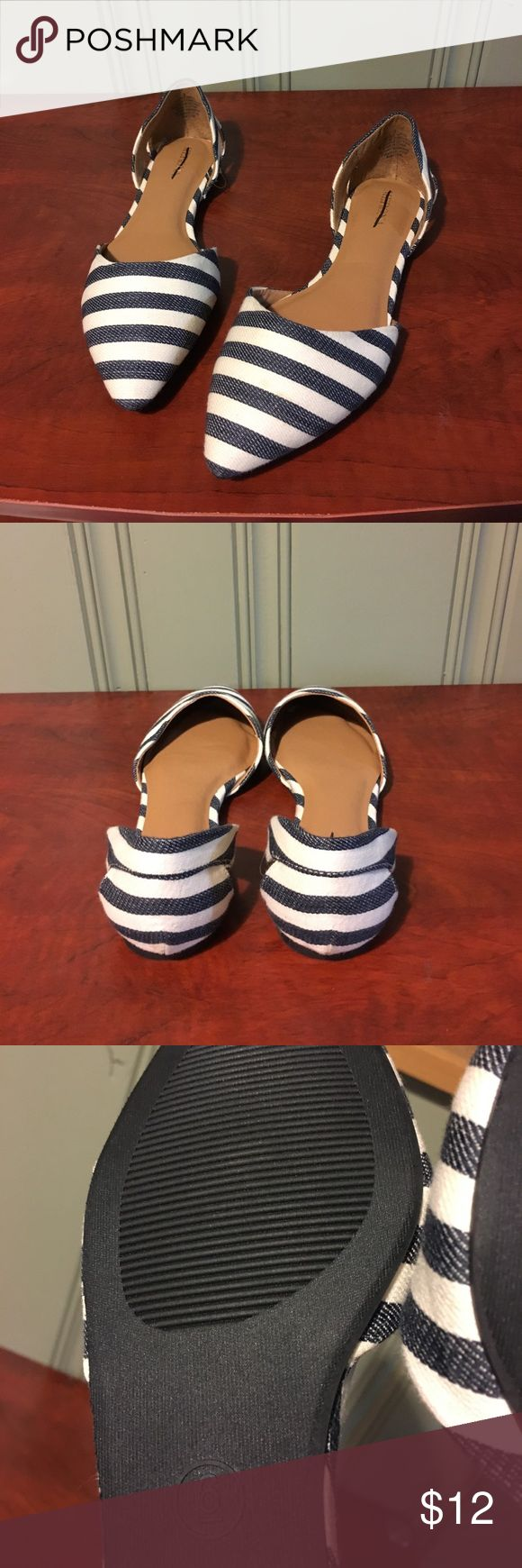 Merona Flats Blue and white flats from Target. The material on the shoe feels like denim. Merona Shoes Flats & Loafers