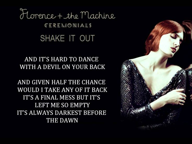 """""""... it's hard to dance with a devil on your back so SHAKE HIM OFF"""" Florence + the Machine - Shake It Out #YogaMix"""