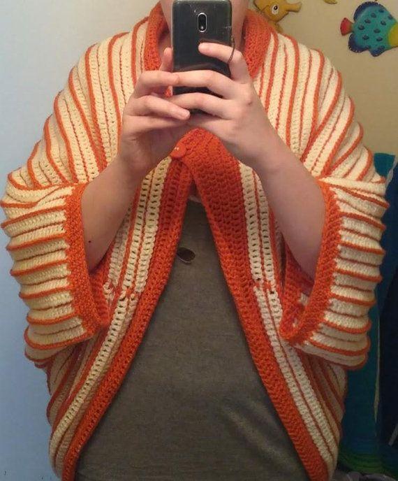 Blanket shawl Big comfy alien sweater thing