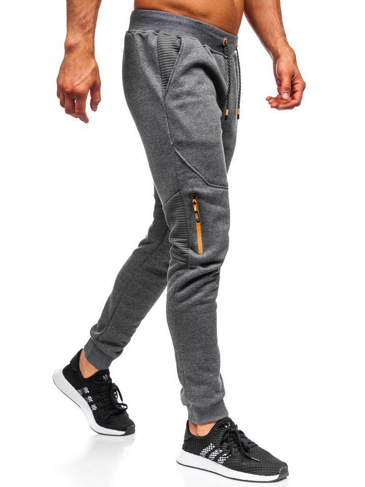 Spodnie Dresowe Meskie Grafitowe Denley Am65 Sweatpants Pants Sport Wear