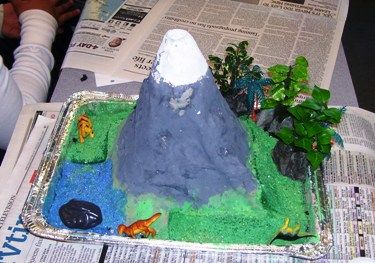 how to make a paper mache volcano with chicken wire