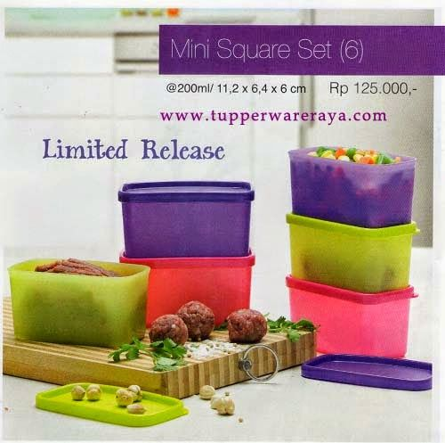 Promo Tupperware April 2014 - Mini Square Set