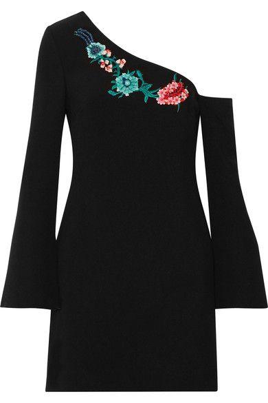 Rachel Zoe - Harper One-shoulder Embellished Crepe Mini Dress - Black - US10