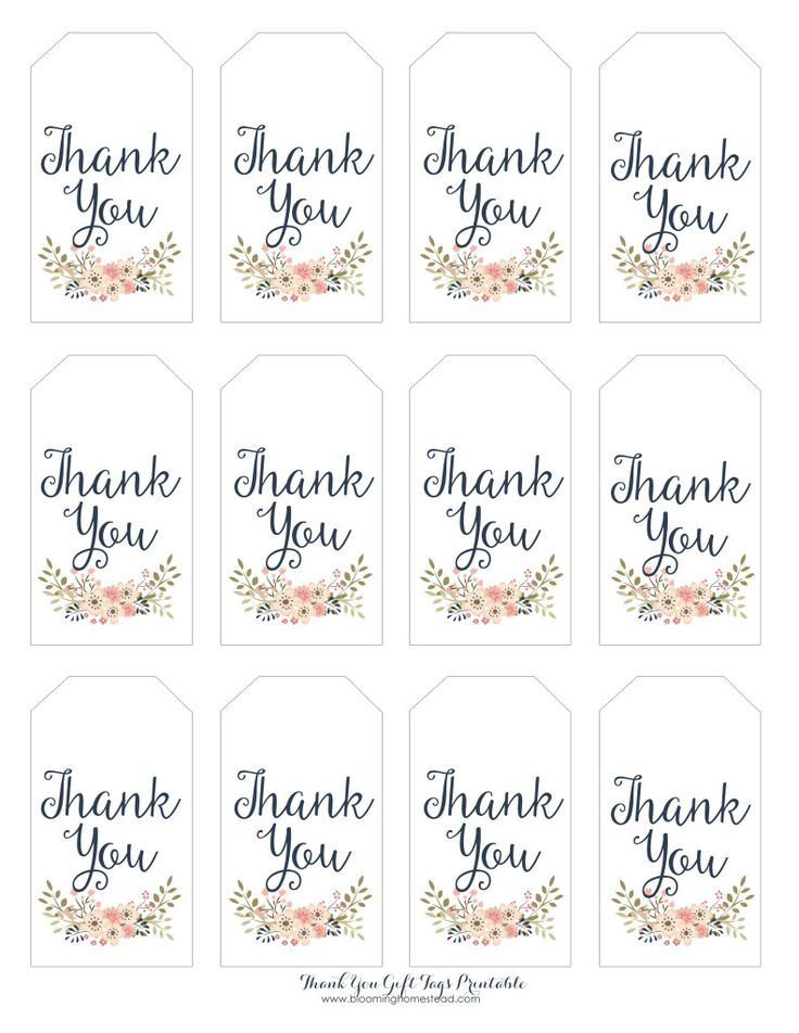 baby shower thank you tags printable diy thank you