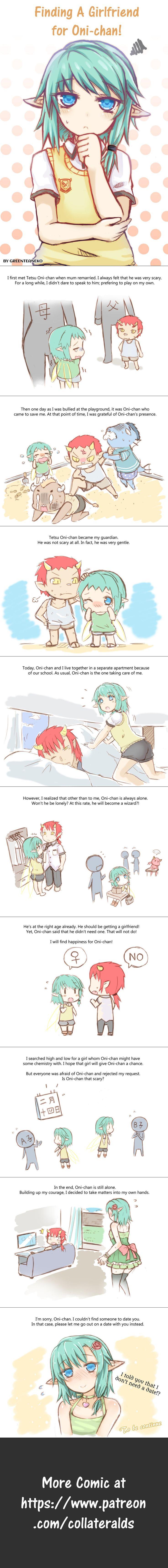 Webcomic: Finding A Girlfriend For Oni-chan! by GreenTeaNeko