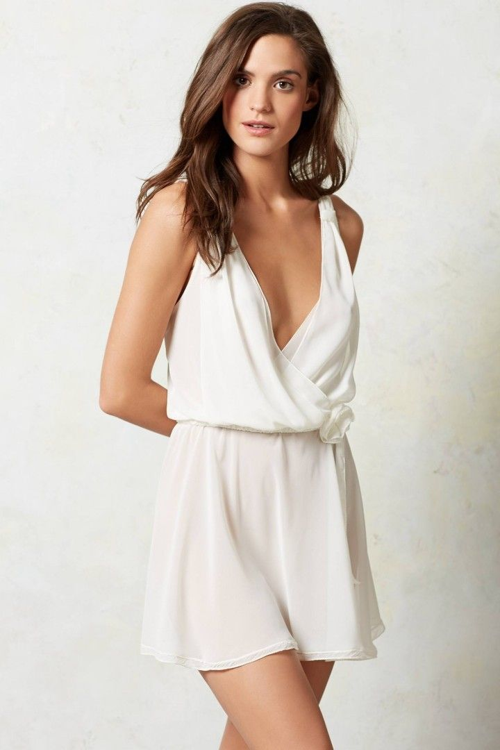 Sexy-Classy Bridal Lingerie to Wear on Your Wedding Night - Flora Nikrooz Blossom Romper via Anthropologie