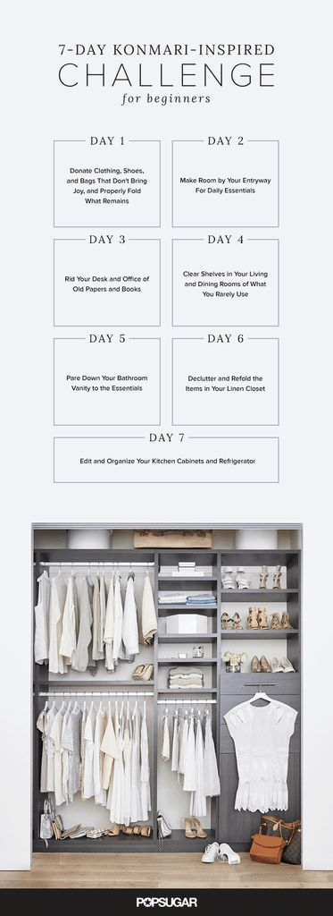 Organize your life with this step-by-step challenge inspired by Konmari.