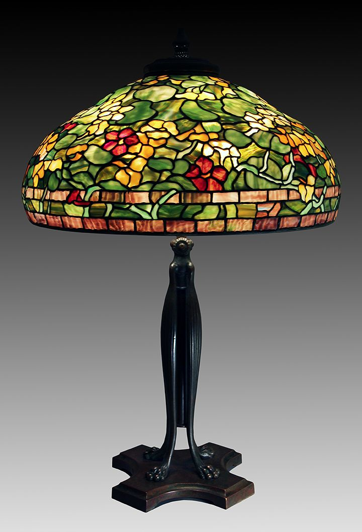 We sold this Tiffany Studios 22-inch Nasturtium table lamp at the show - 595 Best TIFFANY LAMPS Images On Pinterest Tiffany Glass