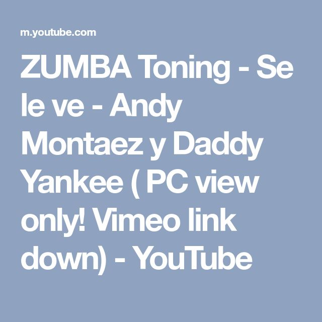 ZUMBA Toning - Se le ve - Andy Montaez y Daddy Yankee ( PC view only! Vimeo link down) - YouTube
