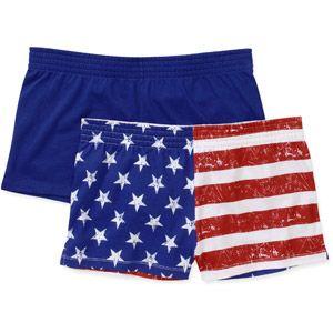 No Boundaries Juniors Cheer Shorts 2-Pack