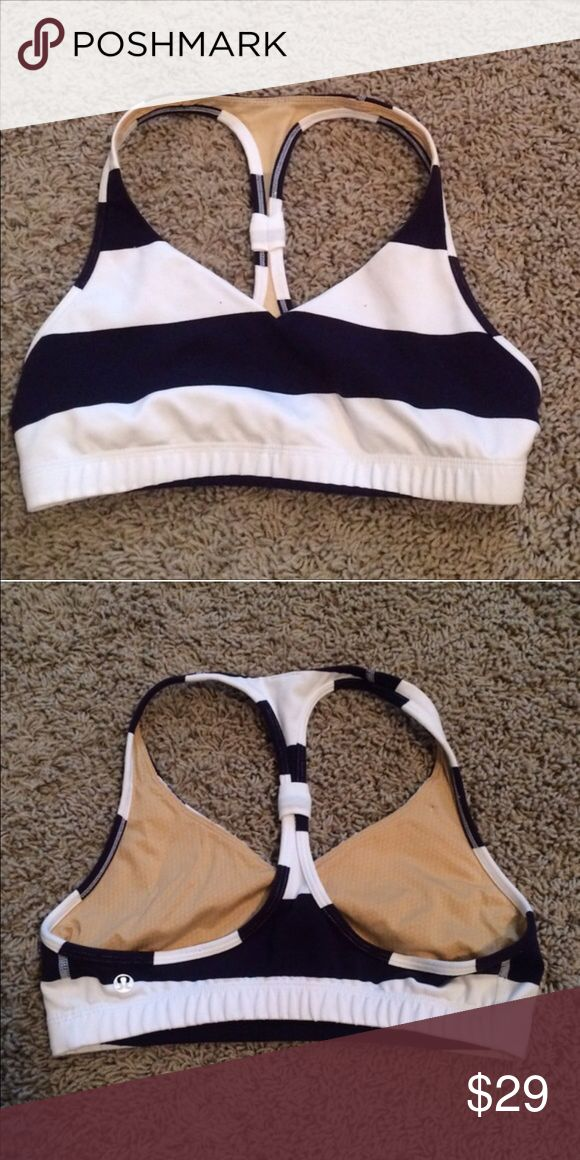 Lululemon sports bra Lululemon sports bra, nautical colors of navy and white lululemon athletica Intimates & Sleepwear Bras